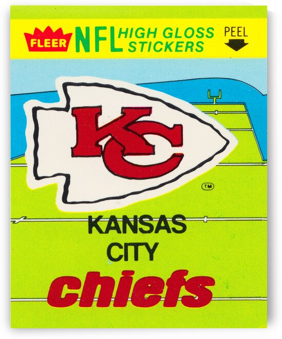 1981 Kansas City Chiefs Fleer Sticker by Row One Brand