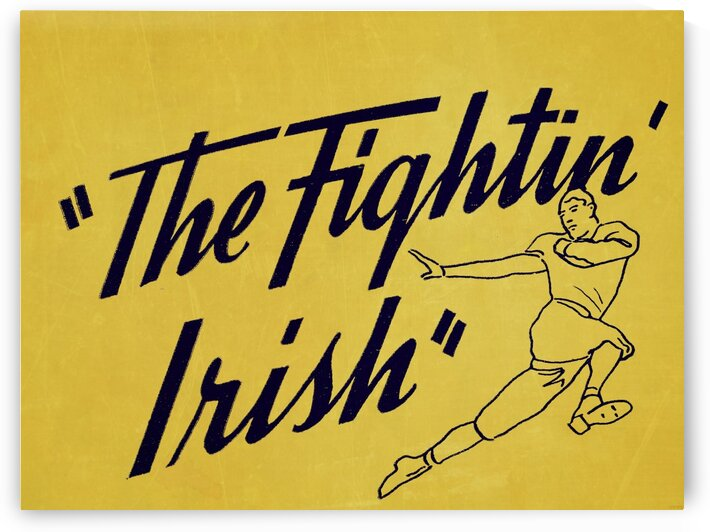 1956 Notre Dame Fightin Irish Art by Row One Brand