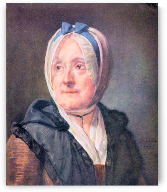 Portrait of Mrs Chardin by Jean Chardin by Jean Chardin