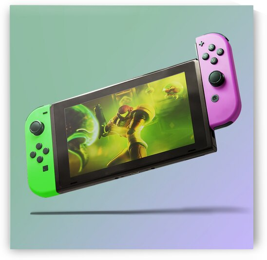 Nintendo Switch Green Pink by CarlosDoesPhoto