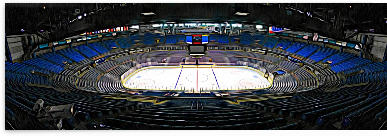 Northlands Coliseum Expressionism by Jonathan Kozub