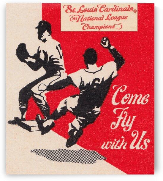 1969 St. Louis Cardinals Baseball Art by Row One Brand