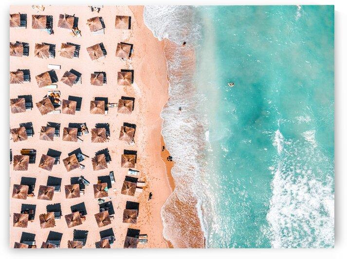 Ocean Beach Home Decor Summer Seaside Aerial Beach Print Sunny Beach Photography Blue Sea Art Print by Radu Bercan