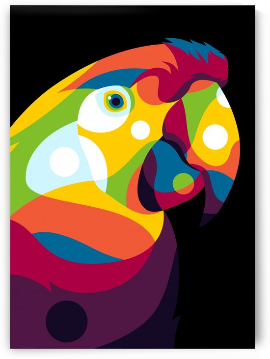 Parrot Bird in Colorful Pop Art by wpaprint