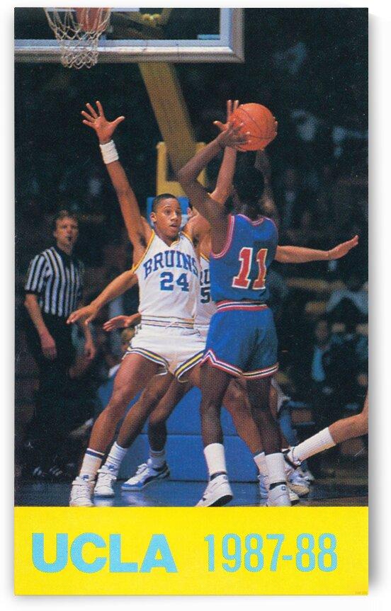 1987 UCLA Basketball Retro Print by Row One Brand