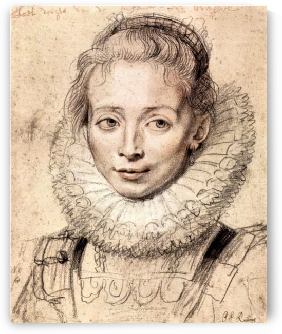 Portrait of the artist s daughter Clara Serena by Rubens by Rubens