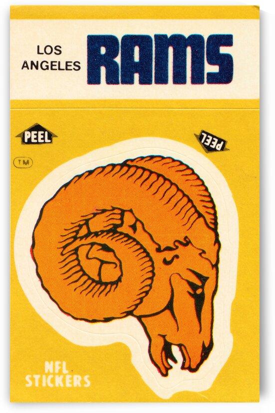 1982 Los Angeles Rams Fleer Sticker Print by Row One Brand