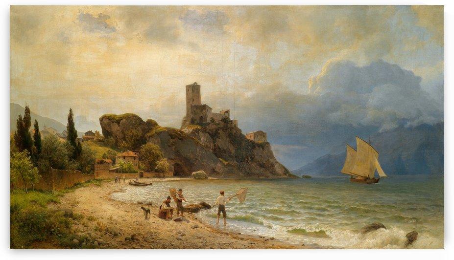 In der Bucht von Malcesine by Carl von der Hellen