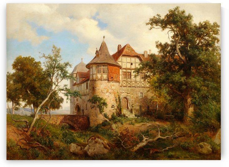 Burg Wohldenberg bei Hildesheim by Carl von der Hellen