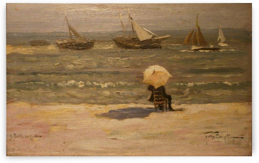 Le Poete et la mer by Felix Buhot
