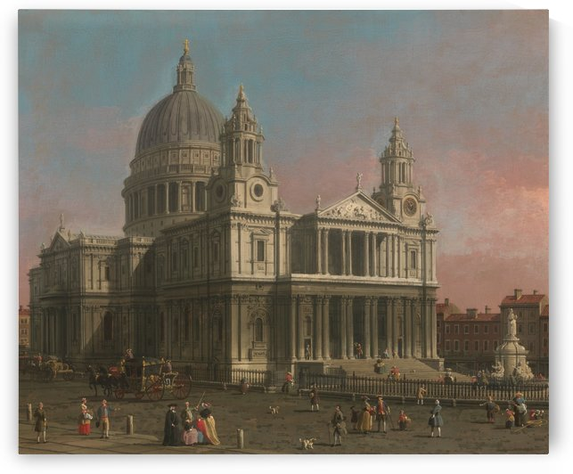 Saint Paul Cathedral by Canaletto