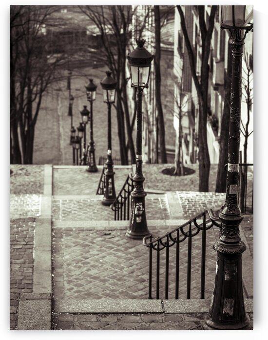 The famous staircase in Montmartre, Paris, France by Assaf Frank