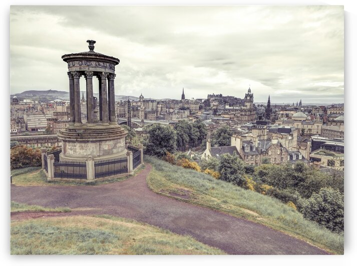 Edinburgh from Calton Hill, Scoatland by Assaf Frank