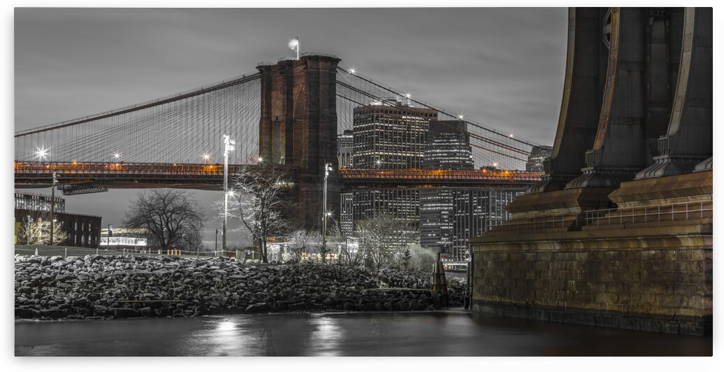 Brooklyn Bridge over East river, New York by Assaf Frank
