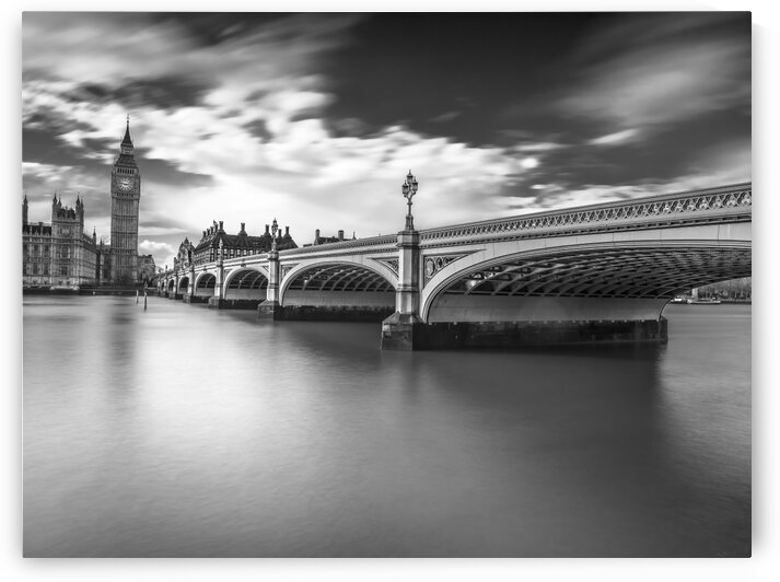 Westminster bridge with Big Ben, London, UK by Assaf Frank