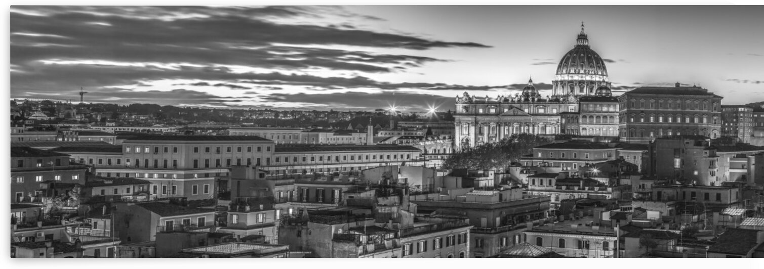 Vatican city with St. Peters Basilica, Rome, Italy by Assaf Frank