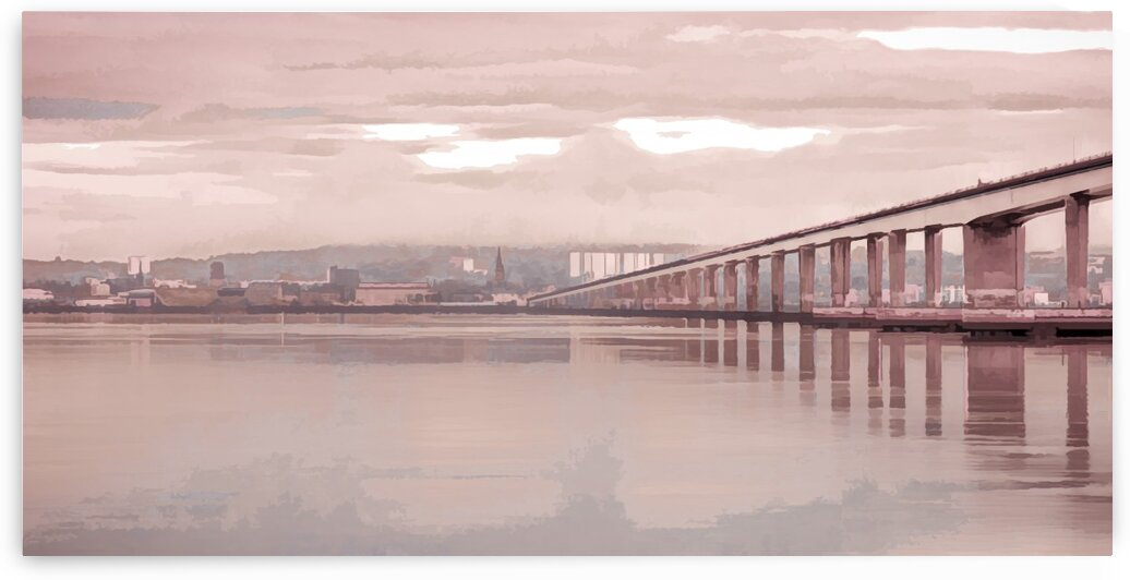 Tay Road Bridge over river Tay, Dundee, Scotland by Assaf Frank
