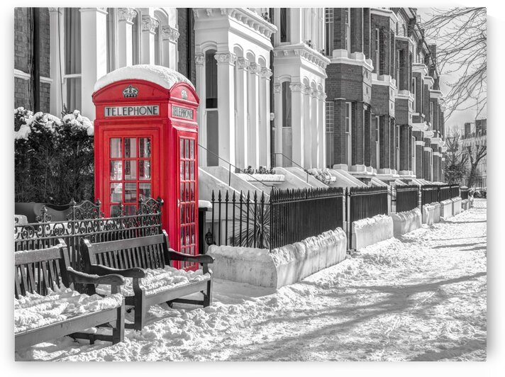 Maida Vale in snow, London by Assaf Frank