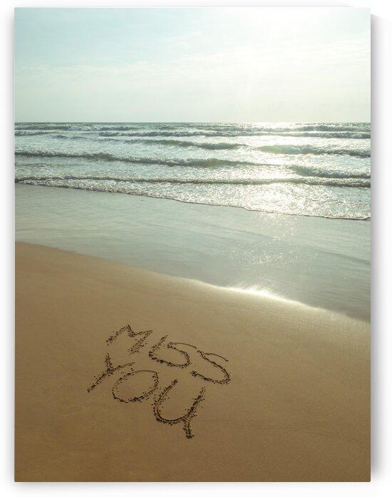 Miss You written on the beach by Assaf Frank