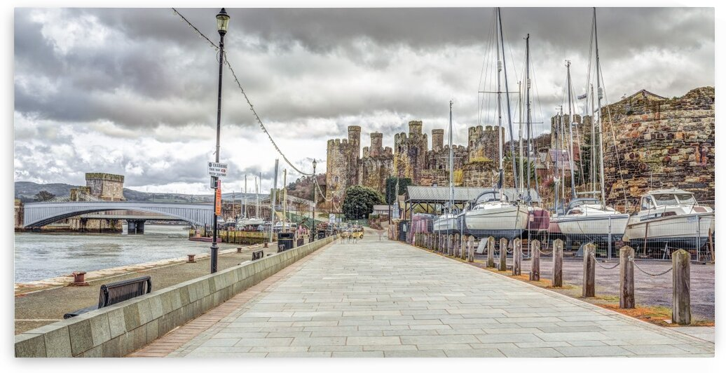 Conwy harbour, North Wales coast by Assaf Frank