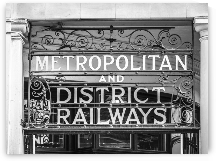 Metropolitan district railways sign, London by Assaf Frank