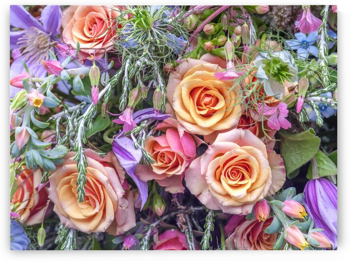 Roses and mixed flowers by Assaf Frank