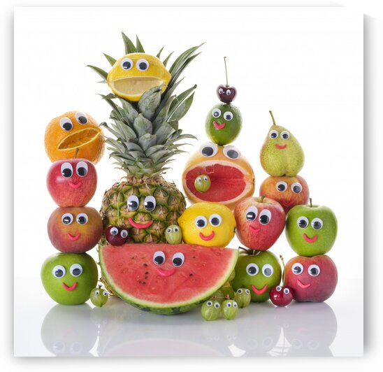 Funny mixed fruits by Assaf Frank