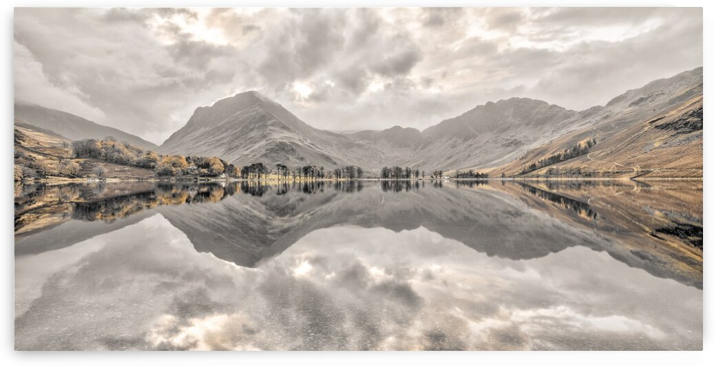 Reflections of moutnains in Lake by Assaf Frank