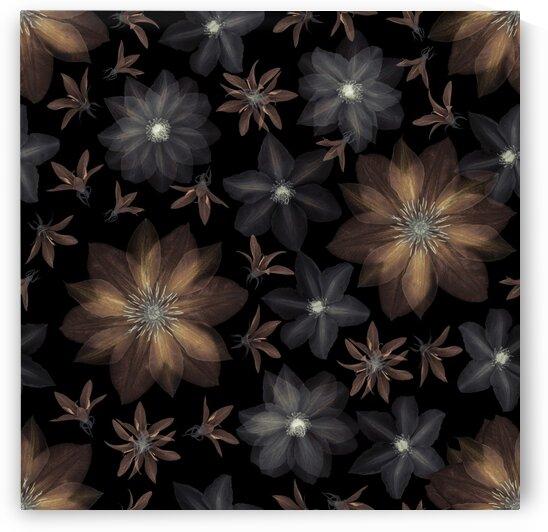 Clematis flowers surface patterns design by Assaf Frank