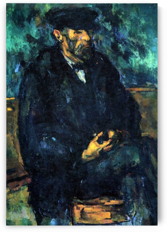 Portrait of Vallier by Cezanne by Cezanne