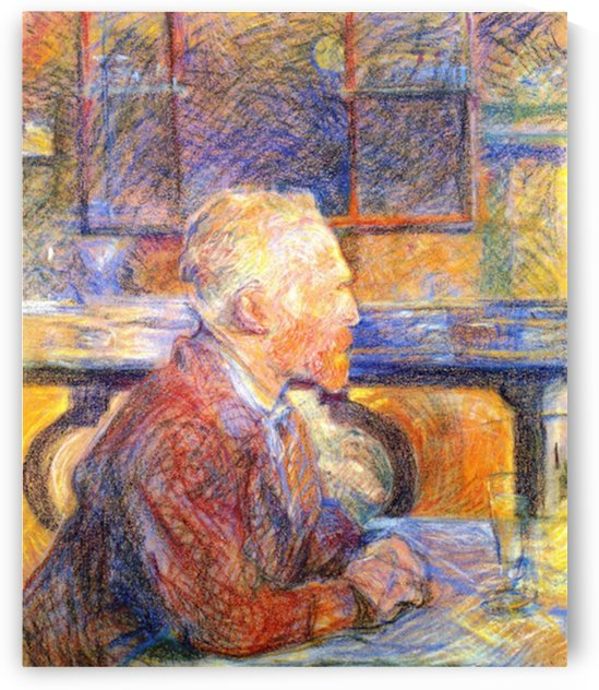 Portrait of Van Gogh by Toulouse-Lautrec by Toulouse-Lautrec