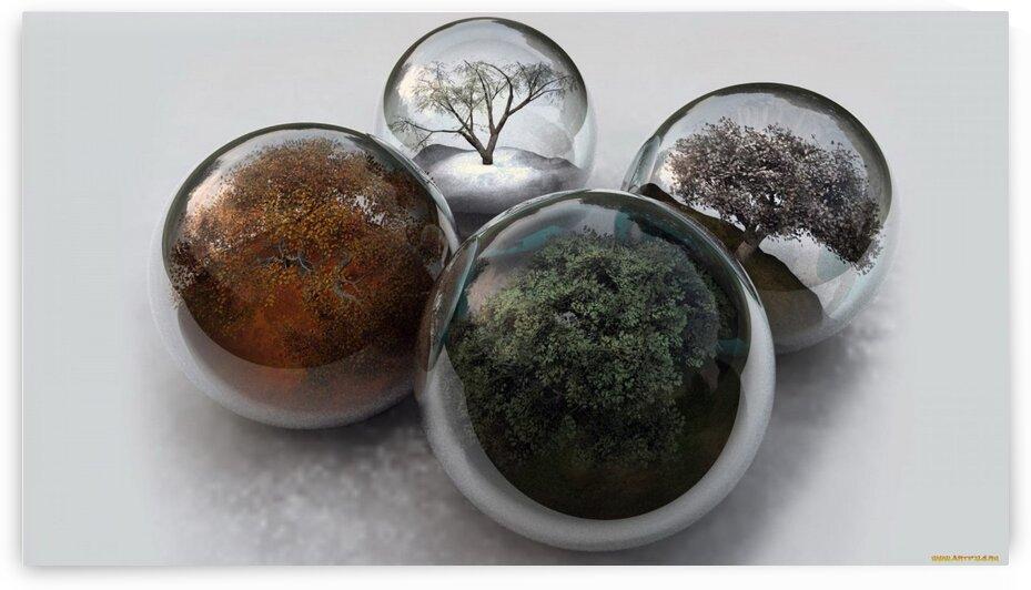 3D graphics balls balls balls times years trees by d9Id9I vanya