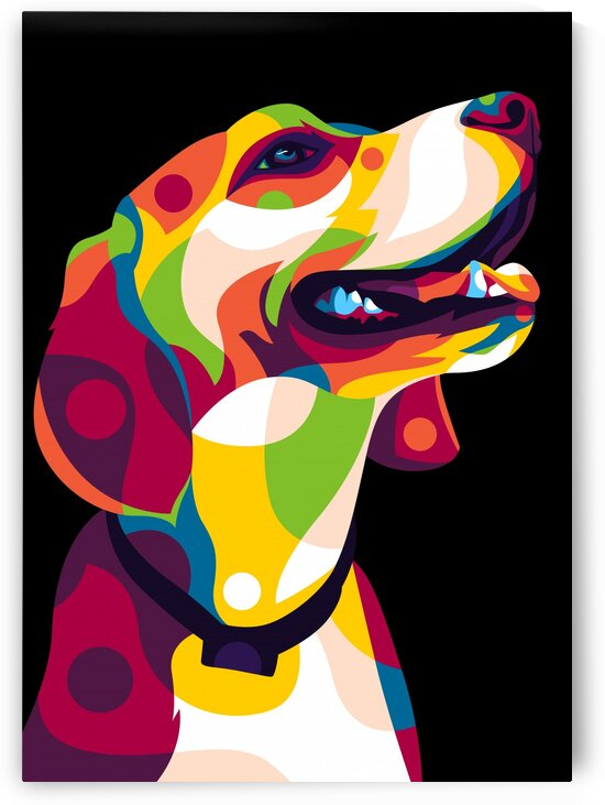 Dog Portrait From Side by wpaprint
