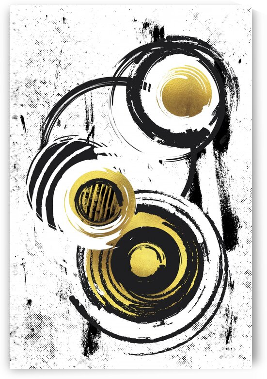 Abstract Painting No. 34 | gold  by Melanie Viola