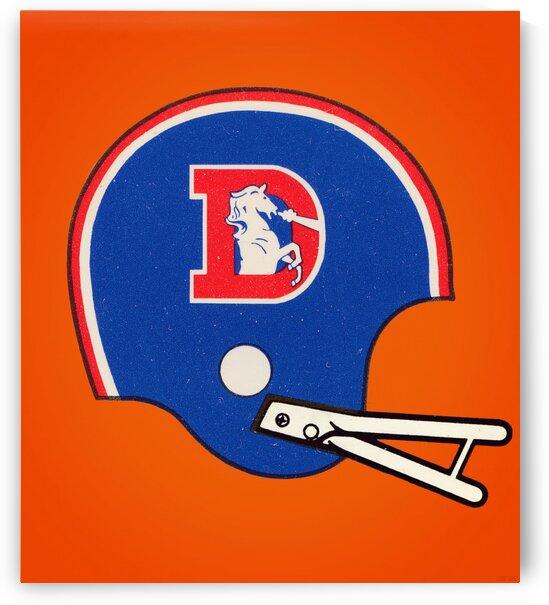 1982 Denver Broncos Football Helmet Art by Row One Brand