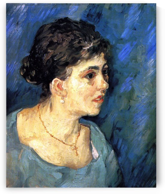 Portrait of Woman in Blue by Van Gogh by Van Gogh