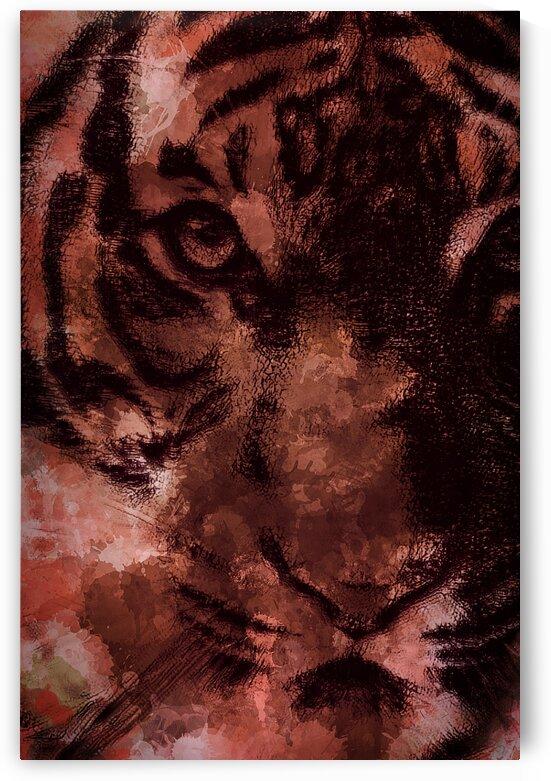 Predator Abstract Orange  by Jeremy Lyman