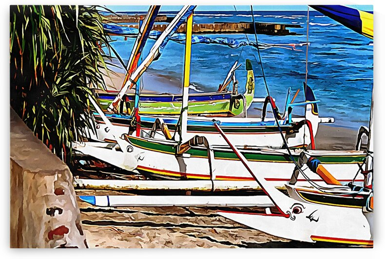 Fishing Boats Lombok by Dorothy Berry-Lound