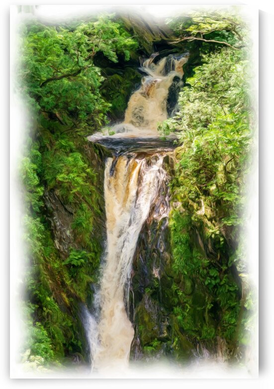 Waterfall-Oil Painting 1 by Fabrice Jolivet