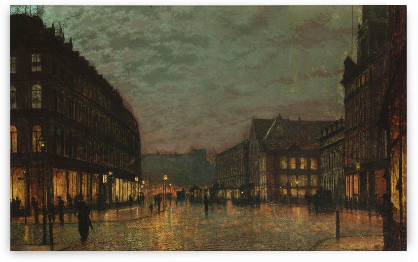 Boar Lane Leeds by lamplight 1881 by John Atkinson Grimshaw