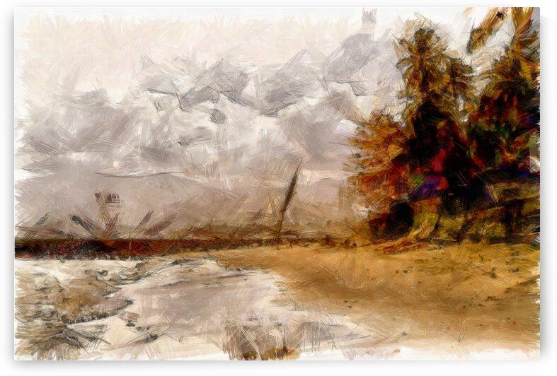 Beach Scene Impressions by Dorothy Berry-Lound