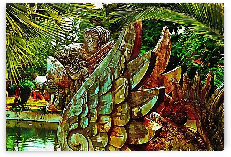Garuda Statue in Balinese Garden by Dorothy Berry-Lound