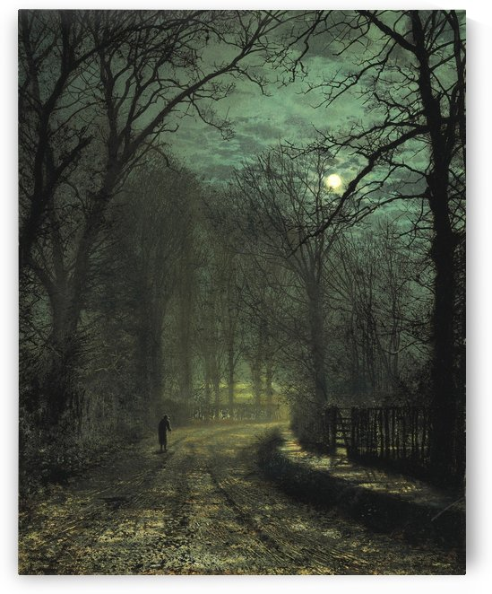 A Yorkshire Lane in November by John Atkinson Grimshaw