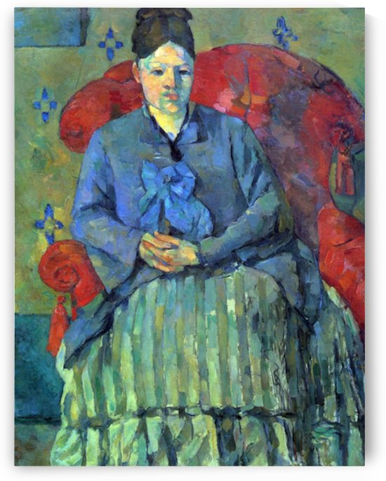 Potrait of Mme Cezanne in Red Armchair by Cezanne by Cezanne