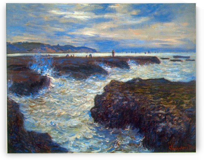 Pourville by Monet by Monet