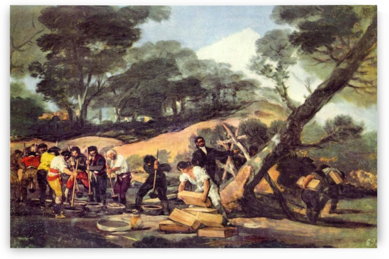 Powder production in the Sierra de Tardienta by Goya by Goya