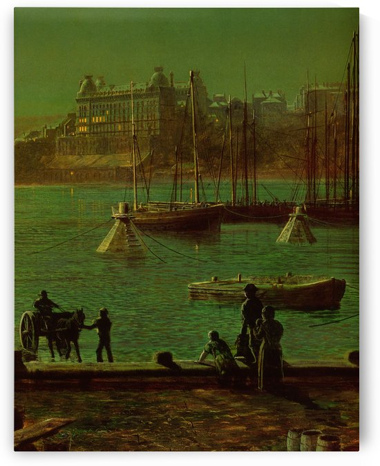 Scarborough Bay by John Atkinson Grimshaw