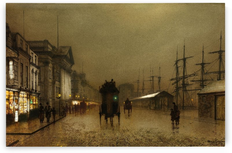 The Dockside Liverpool at Night by John Atkinson Grimshaw