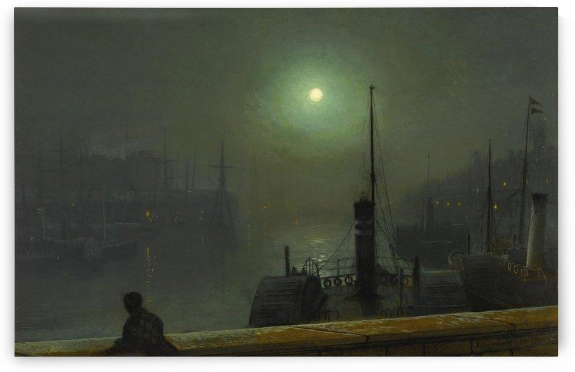 Moonlight painter by John Atkinson Grimshaw