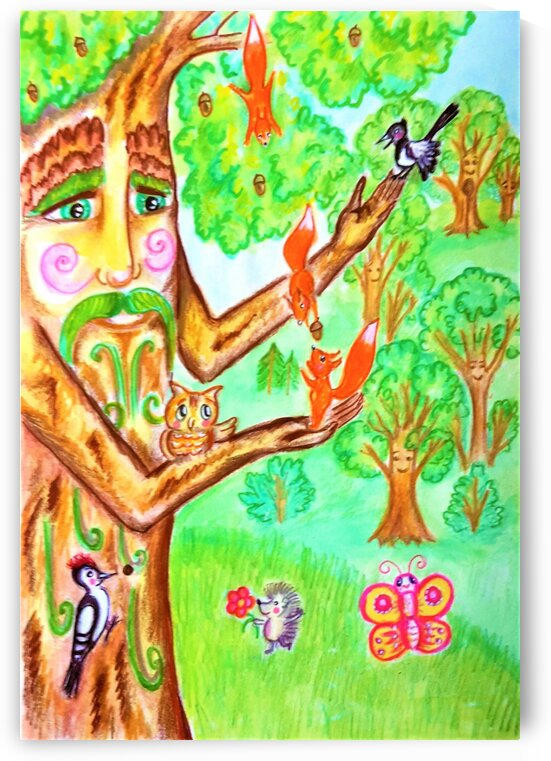 The tree of the prophetic wood and the friends of the wood by Ivan Venerucci Italian Style